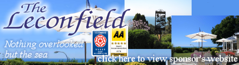 Hotel with swimming pool and spectacular sea views.  Leconfield Hotel, Bonchurch, Ventnor, Isle of Wight