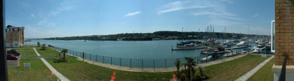Panorama showing Cowes Apartments, IOW