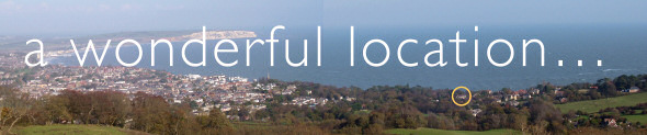 Panorama showing Luccombe Villa, IOW