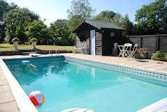 Thatched Country Cottage With Swimming Pool Self Catering Roud Rose Cottage Isle Of Wight